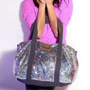 Pink by Victoria Secret Sequins Mini Duffle Bag